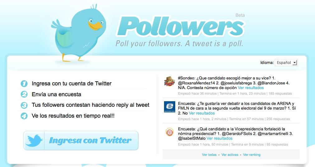 Twitter pollowers